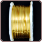 Rhinestone Biz Colored Copper Wire 24 Gauge 10 Yard - Gold