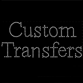Custom Text-Only Transfer Featuring SWAROVSKI® ELEMENTS Crystals - Times New Roman Font