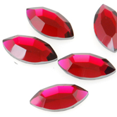 SWAROVSKI® ELEMENTS (2200) Navette Flat Back Rhinestones 8x4mm Scarlet