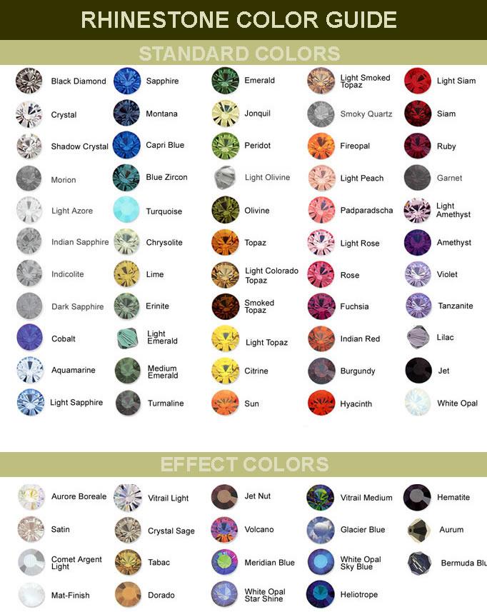 34e72d32d52 Swarovski Rhinestone Color Chart 05-Jan-2007