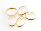 Rim Sets 13x18mm Oval - Gold
