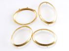 Rim Sets 18x25mm Oval - Gold