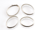 Rim Sets 18x25mm Oval - Nickel