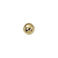 Smooth Round Seamed Bead 4mm with 1mm Hole - Gold