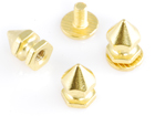 Rhinestone Biz Hex Spikes 6x11mm Screw Back - Gold
