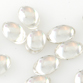 SWAROVSKI® ELEMENTS (2190/4) Flat Back Cabochon Oval 6x4mm Crystal Clear