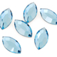 SWAROVSKI® ELEMENTS (2200) Navette Flat Back Rhinestones 4x2mm Aquamarine