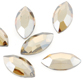 SWAROVSKI® ELEMENTS (2200) Navette Hot Fix Rhinestones 4x2mm Crystal Golden Shadow