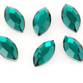 SWAROVSKI® ELEMENTS (2200) Navette Flat Back Rhinestones 4x2mm Emerald