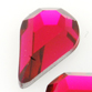 SWAROVSKI® ELEMENTS (2300) Drop Flat Back Rhinestones 8x4.8mm Scarlet