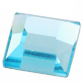 SWAROVSKI® ELEMENTS (2400) Square Flat Back Rhinestones 2.2mm Aquamarine