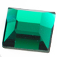 SWAROVSKI® ELEMENTS (2400) Square Flat Back Rhinestones 3mm Emerald