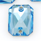 SWAROVSKI® ELEMENTS (3252) Emerald Cut Sew-on Rhinestones 14x10mm Aquamarine