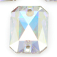 SWAROVSKI® ELEMENTS (3252) Emerald Cut Sew-on Rhinestones 14x10mm Crystal AB