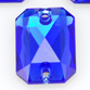 SWAROVSKI® ELEMENTS (3252) Emerald Cut Sew-on Rhinestones 14x10mm Majestic Blue