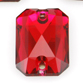 SWAROVSKI® ELEMENTS (3252) Emerald Cut Sew-on Rhinestones 14x10mm Scarlet