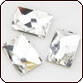 Swarovski Crystal - Flat Back Cosmic Rectangle (S2520) 10x8mm Crystal