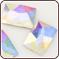 Swarovski Crystal - Flat Back Cosmic Rectangle (S2520) 10x8mm Crystal AB