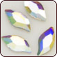 Swarovski Crystal - Diamond Leaf (S2979) 10x5mm Crystal AB