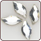 SWAROVSKI® ELEMENTS (2797) Diamond Leaf Flat Back 8x4mm Crystal Clear