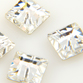 Swarovski Crystal - Square Lochrose Rhinestone (3400) 6mm Crystal Clear