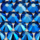 SWAROVSKI® ELEMENTS 2058 Flat Back Rhinestones 7ss Crystal Metallic Blue