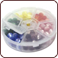BeadSmith® Six-Compartment Plastic Organizer Box 3-1/4 x 3/4 Inch