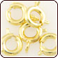 Springring Round Clasp 6mm - Gold Plated Brass