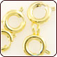 Springring Round Clasp 7mm - Gold Plated Brass
