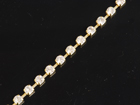 VALUE BRIGHT™ Single Cupchain with 4-Prong Gold Setting and 20ss Round Stone - Crystal Clear Foiled
