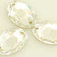 VALUE BRIGHT™ Sew-on 10x7mm Oval (3210) Crystal Clear