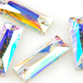 VALUE BRIGHT™ Sew-on 18x6mm Cosmic Baguette (3255) Crystal AB