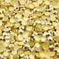 VALUE BRIGHT™ 7008 Hot Fix Metal Octagons 4mm Gold